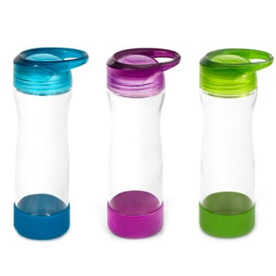 Full Circle Hydrate Mate Glass Water Bottle in Blueberry
