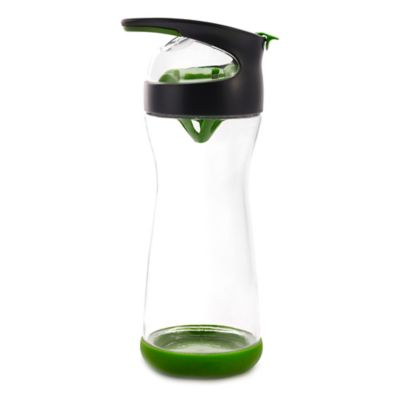 Full Circle Wherever Cucumber Glass Infuser Water Bottle