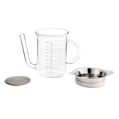 4-Cup Glass Fat Separator with Gravy Strainer