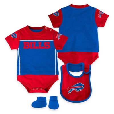 NFL Buffalo Bills Lil Jersey Size 0-3M 3-Piece Creeper, Bib, and Bootie Set