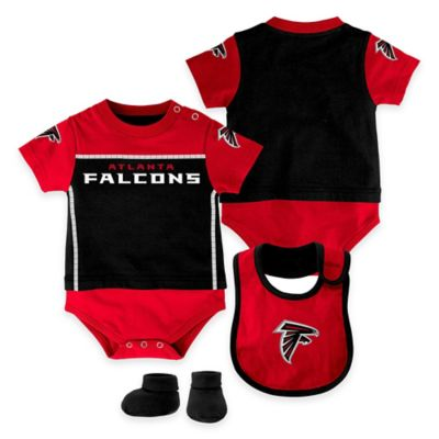 NFL Atlanta Falcons Lil Jersey Size 0-3M 3-Piece Creeper, Bib, and Bootie Set