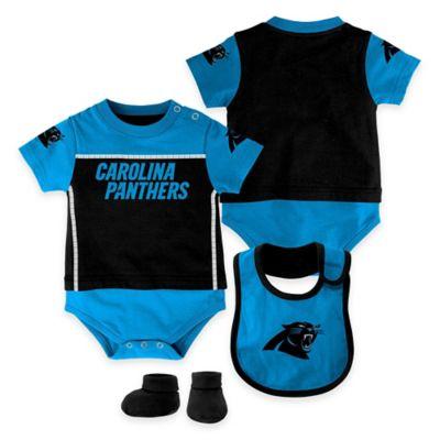 NFL Carolina Panthers Lil Jersey Size 18M 3-Piece Creeper, Bib, and Bootie Set