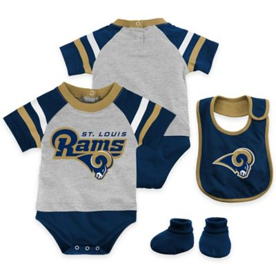 NFL St. Louis Rams Lil Jersey Size 0-3M 3-Piece Creeper, Bib, and Bootie Set