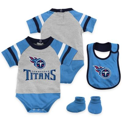 NFL Tennessee Titans Lil Jersey Size 12M 3-Piece Creeper, Bib, and Bootie Set