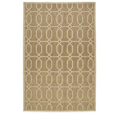 Kaleen Five Seasons Tile 2-Foot 1-Inch x 4-Foot Indoor/Outdoor Rug in Tan