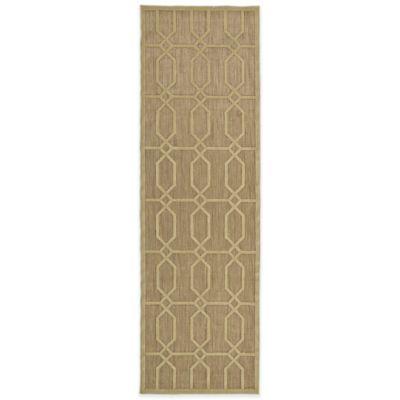 Kaleen Five Seasons Tile 2-Foot 6-Inch x 7-Foot 10-Inch Indoor/Outdoor Rug in Tan