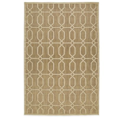 Kaleen Five Seasons Tile 2-Foot 1-Inch x 4-Foot Indoor/Outdoor Rug in Tan