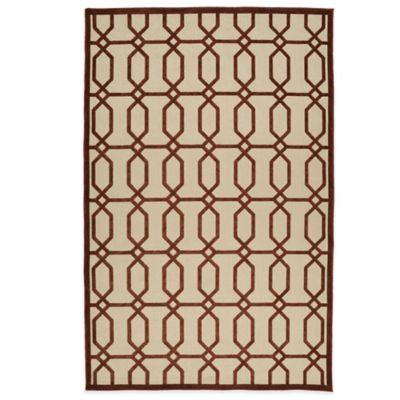 Kaleen Five Seasons Tile 8-Foot 8-Inch x 12-Foot Indoor/Outdoor Rug in Orange