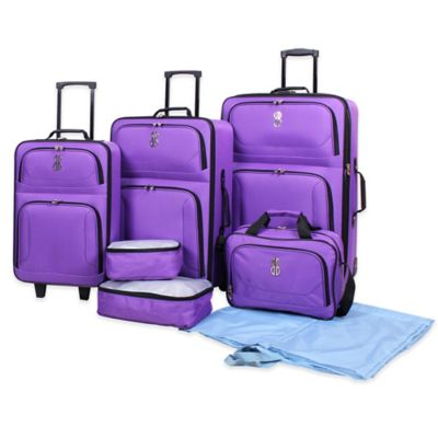 Bill Blass Soho 7-Piece Luggage Set in Purple