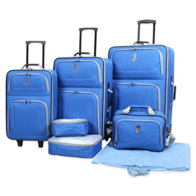 Bill Blass Soho 7-Piece Luggage Set in Blue