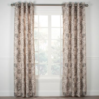 Cadogen 63-Inch Grommet Top Window Curtain Panel in Grey