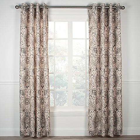 Cadogen 84 Inch Grommet Top Window Curtain Panel In Grey