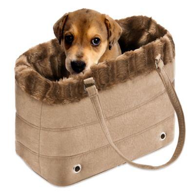 Shoulder Bag Pet Carrier With Fur Trim 43