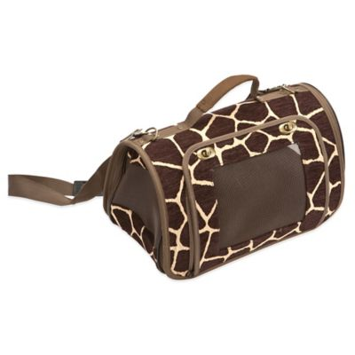 Rectangle Pet Carrier in Giraffe
