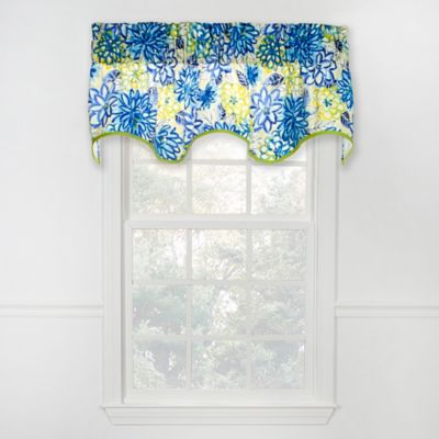 Matisse Scalloped Cotton Valance in Blue