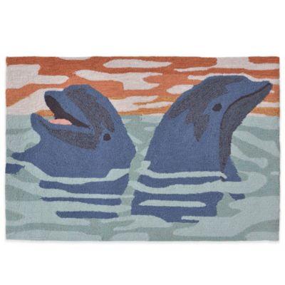 Trans-Ocean 24-Inch x 36-Inch Dolphins Doormat