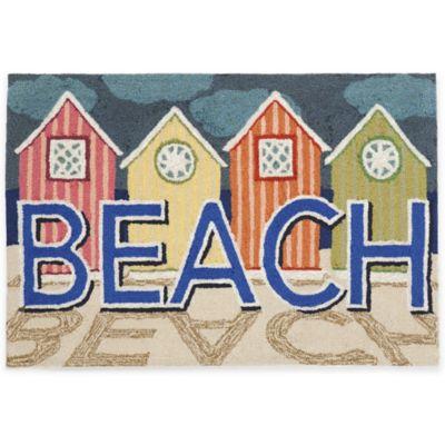 Trans-Ocean 27-Inch x 72-Inch Beachfront Pastel Door Mat