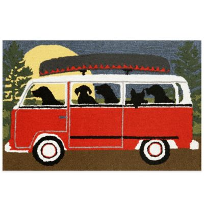 Trans-Ocean 20-Inch x 30-Inch Camping Trip Door Mat in Red