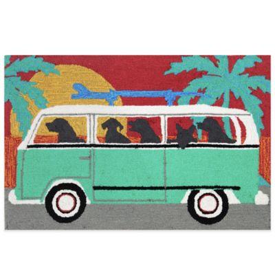 Trans-Ocean 30-Inch x 48-Inch Beach Trip Door Mat in Turquoise