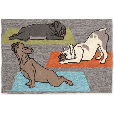 Trans-Ocean 24-Inch x 36-Inch Yoga Dogs Doormat