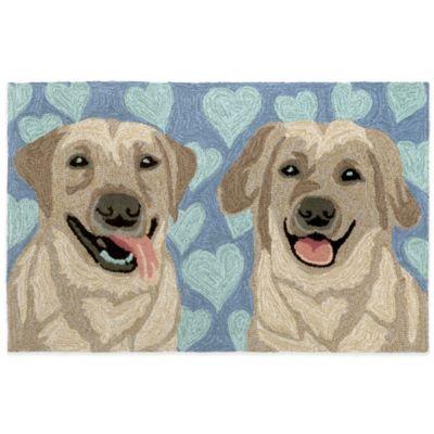 Trans-Ocean 20-Inch x 30-Inch Puppy Love Door Mat