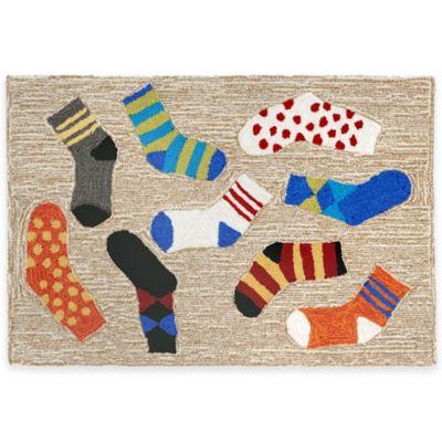 Trans-Ocean 20-Inch x 30-Inch Lost Socks Door Mat