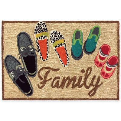 Trans-Ocean 27-Inch x 72-Inch Family Door Mat in Multi