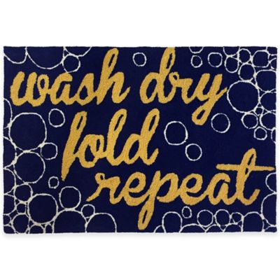 "Trans-Ocean 27-Inch x 72-Inch ""Wash…and Repeat"" Door Mat"