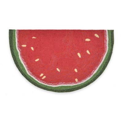 Trans-Ocean 20-Inch x 30-Inch Watermelon Slice Door Mat