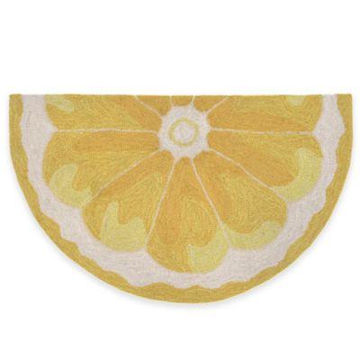 Trans-Ocean 20-Inch x 30-Inch Lemon Slice Door Mat
