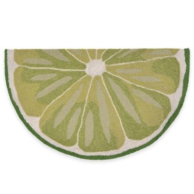 Trans-Ocean 20-Inch x 30-Inch Lime Slice Door Mat