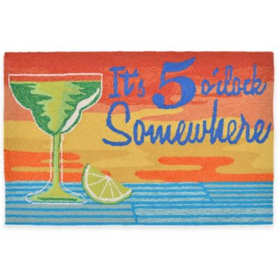Trans-Ocean 27-Inch x 72-Inch It's 5 O'clock Sunset Door Mat