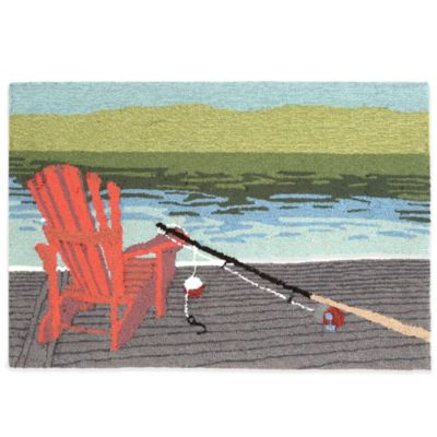 Trans-Ocean 20-Inch x 30-Inch Lakeside Water Door Mat