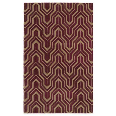 Kaleen Revolution Geometric 2-Foot 3-Inch x 8-Foot Area Rug in Plum