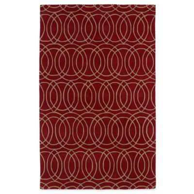 Kaleen Revolution Circles 2-Foot x 3-Foot Accent Rug in Red