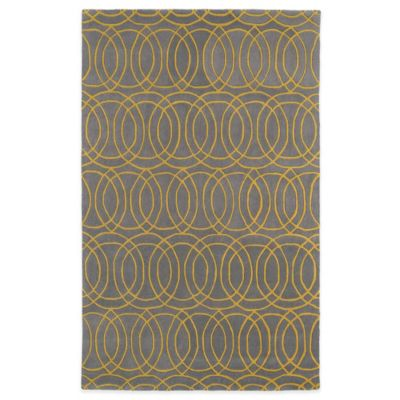 Kaleen Revolution Circles 3-Foot x 5-Foot Area Rug in Yellow