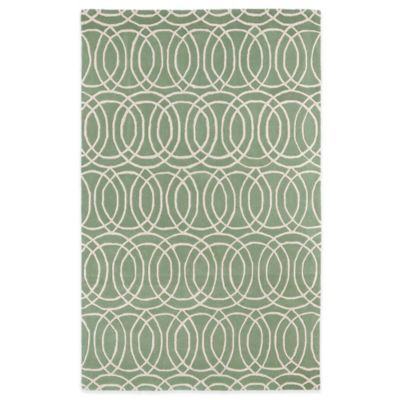 Kaleen Revolution Circles 3-Foot x 5-Foot Area Rug in Mint