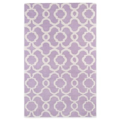 Kaleen Revolution Trellis 3-Foot x 5-Foot Area Rug in Lilac