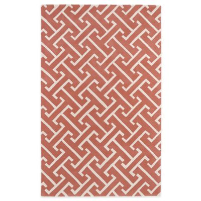 Kaleen Revolution 2-Foot x 3-Foot Lines Accent Rug in Pink