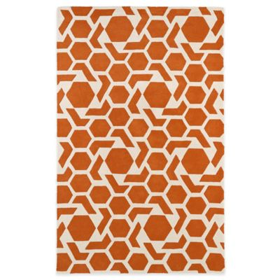 Kaleen Revolution 2-Foot 3-Inch x 8-Foot Area Rug in Orange