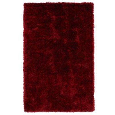 Kaleen Posh 2-Foot x 3-Foot Shag Accent Rug in Red