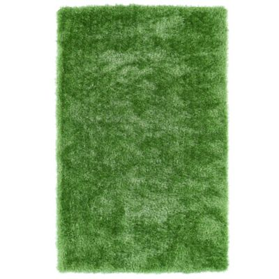 Kaleen Posh 2-Foot 3-Inch x 8-Foot Shag Runner in Lime Green
