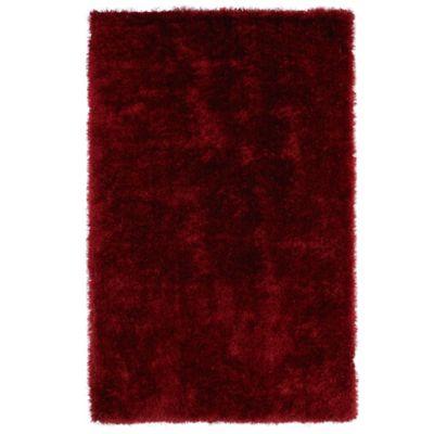 Kaleen Posh 8-Foot x 10-Foot Shag Area Rug in Red