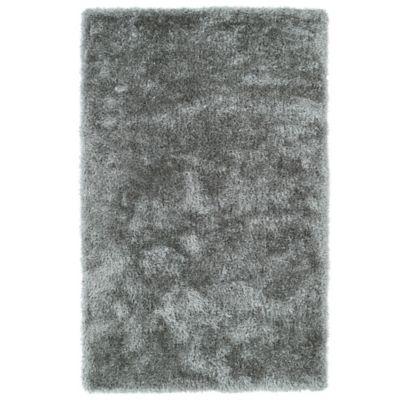 Kaleen Posh 8-Foot x 10-Foot Shag Area Rug in Silver