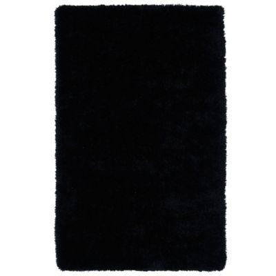 Kaleen Posh 8-Foot x 10-Foot Shag Area Rug in Black