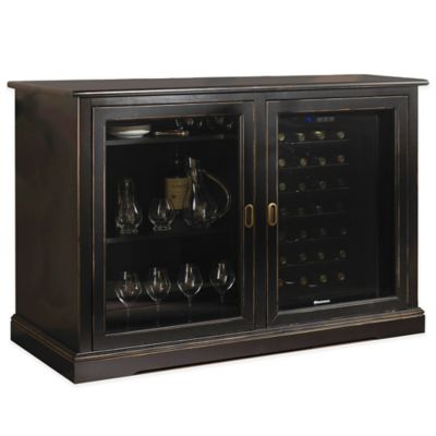 Wine Enthusiast Siena Mezzo Credenza and Two 28-Bottle Touchscreen Wine Coolers