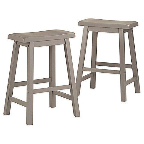 Buy Verona Home Calera Saddle Counter Stools In Grey Set