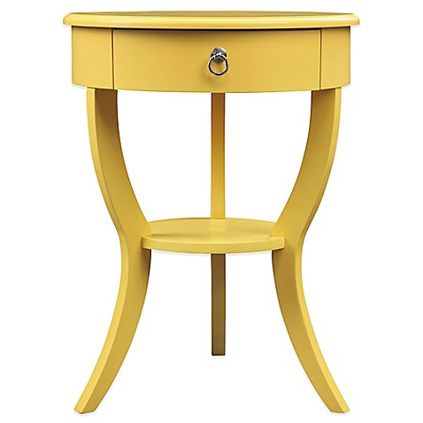 buy home jolene accent table in yellow from bed bath beyond