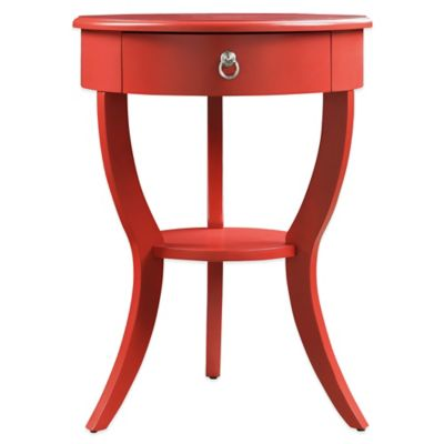 Veronica Home Jolene Accent Table in Blue