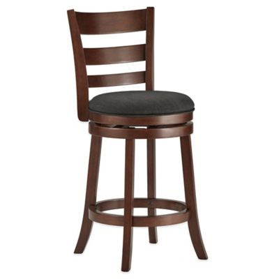 Verona Home Upland Swivel Counter Stool in Charcoal